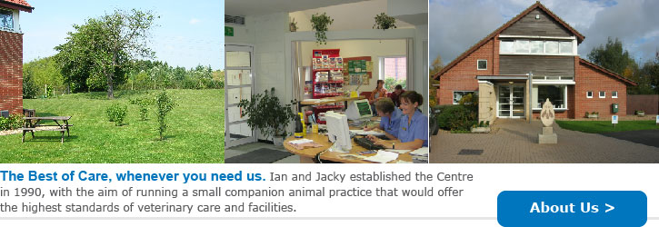 Welcome to Macqueen Veterinary Centre: Ian and Jacky Macqueen established the Centre in Devizes, Wiltshire with the aim of running a small companion animal practice that would offer the highest standards of veterinary care and facilities.