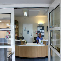 Reception entrance in devizes Wiltshire