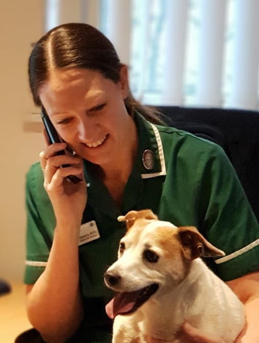 Becky Referrals with dog