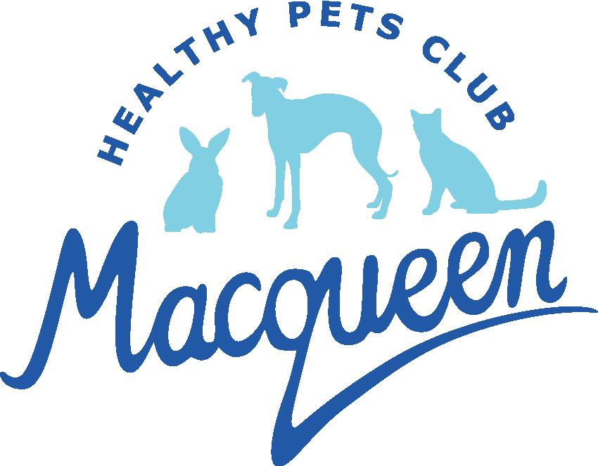 Macqueen vets healthy pets club logo